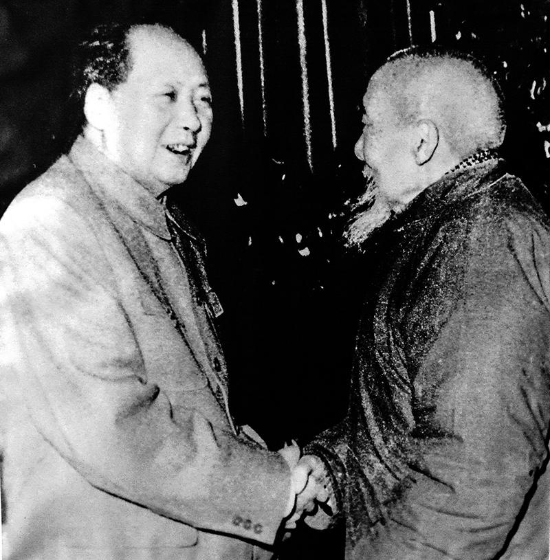 1961年毛主席在中南海接见修业学校创始人周震鳞